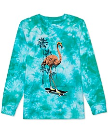 Big Boys Flamingo Skater Tie-Dye T-Shirt