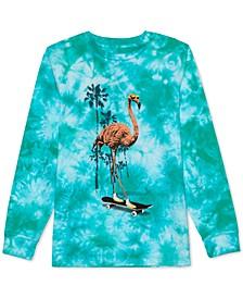 Big Boys Flamingo Skater Tie-Dyed T-Shirt