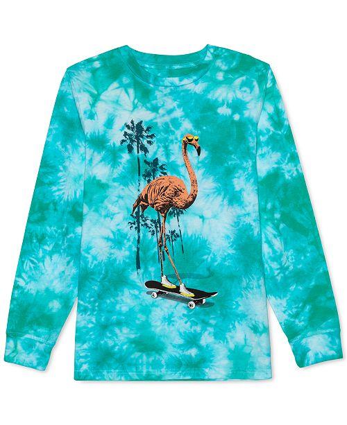 Jem Big Boys Flamingo Skater Tie-Dyed T-Shirt