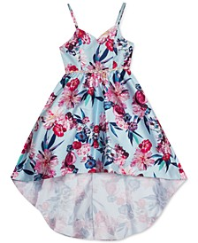 Big Girls Floral-Print High-Low Dress