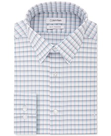 Men's Slim-Fit Stretch Collar Check Dress Shirt, Online Exclusive Created for Macy's