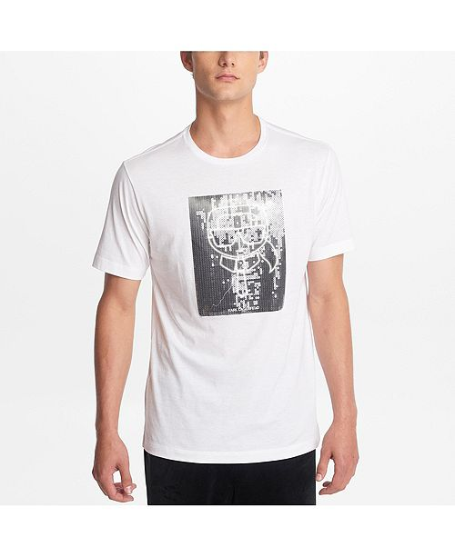 Karl Lagerfeld Paris Men's Crew Neck T-Shirt With Karl Sequined Character