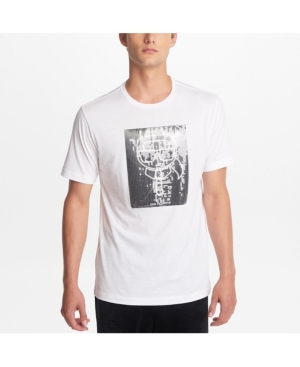 Karl Lagerfeld T-shirts PARIS MEN'S CREW NECK T-SHIRT WITH KARL SEQUINED CHARACTER