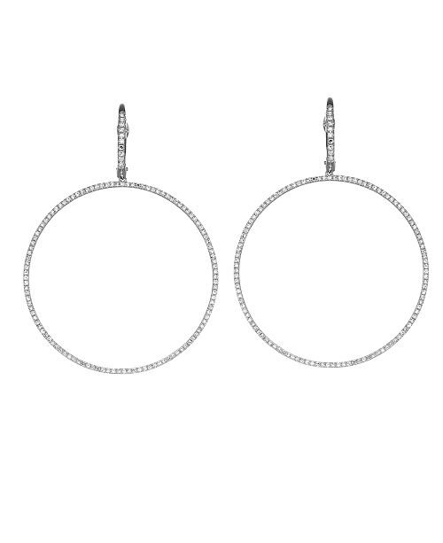 Serena Williams Jewelry Diamond (3/4 ct. t.w.) Hoop Earrings in 14K White Gold
