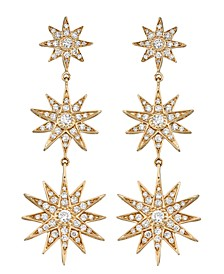 Diamond (1 ct. t.w.) Star Drop Earrings in 14K Yellow Gold