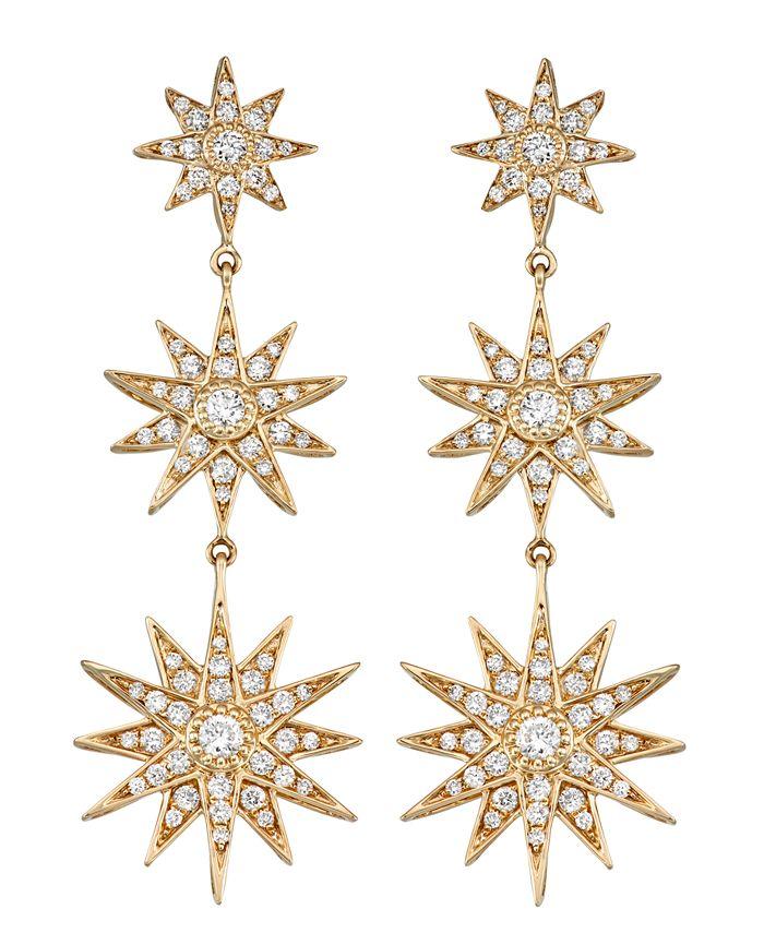 Serena Williams Jewelry - Diamond (1 ct. t.w.) Star Drop Earrings in 14K Yellow Gold