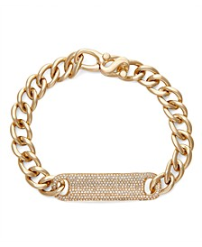 Diamond (1 ct. t.w.) ID Bracelet in 14K Yellow Gold