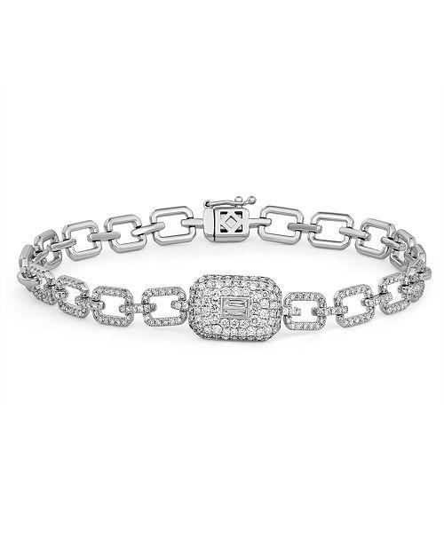 Serena Williams Jewelry Diamond (1-1/3 ct. t.w.) Ice Cube Bracelet in 14K White Gold