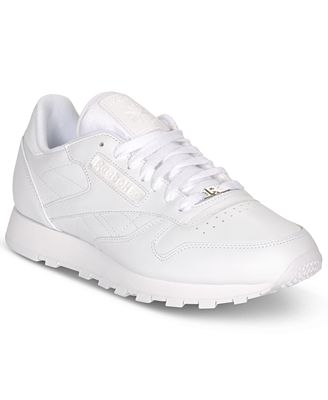 mens reebok white classic sneakers