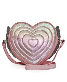 Winged Heart Metallic Crossbody