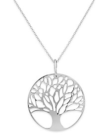 Giani Bernini Sterling Silver or Sterling Silver Family Tree Pendant Necklace