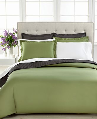 CLOSEOUT! Charter Club Bedding, Damask Solid 500 Thread Count Pima Cotton Duvet Cover, Only at Macy's