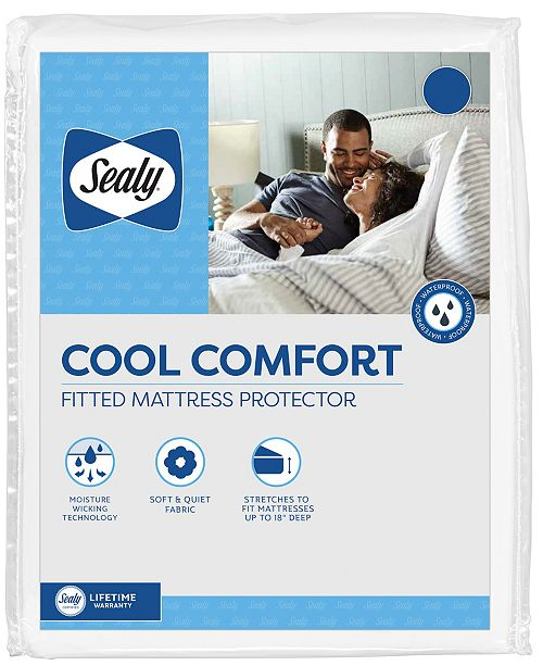 Sealy Cool Comfort Fitted Mattress Protector, Queen