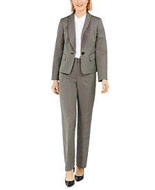 Petite One-Button Pantsuit