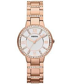 Women's Virginia Rose Gold-Tone Stainless Steel Bracelet Watch 30mm ES3284