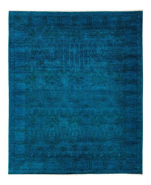 """Timeless Rug Designs CLOSEOUT! One of a Kind OOAK783 Turquoise 6'3"""" x 9'1"""" Area Rug"""