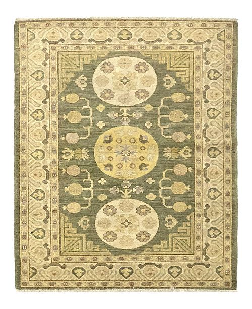 "Timeless Rug Designs CLOSEOUT! One of a Kind OOAK925 Moss 4'1"" x 6' Area Rug"