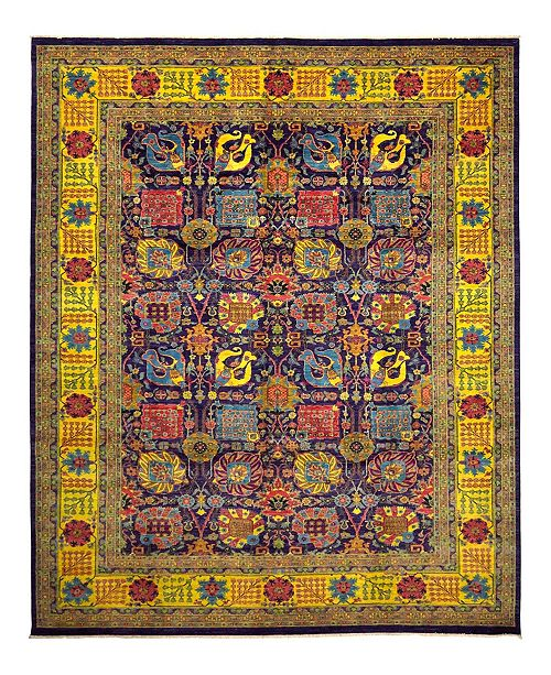 """Timeless Rug Designs CLOSEOUT! One of a Kind OOAK953 Plum 9'10"""" x 13'9"""" Area Rug"""