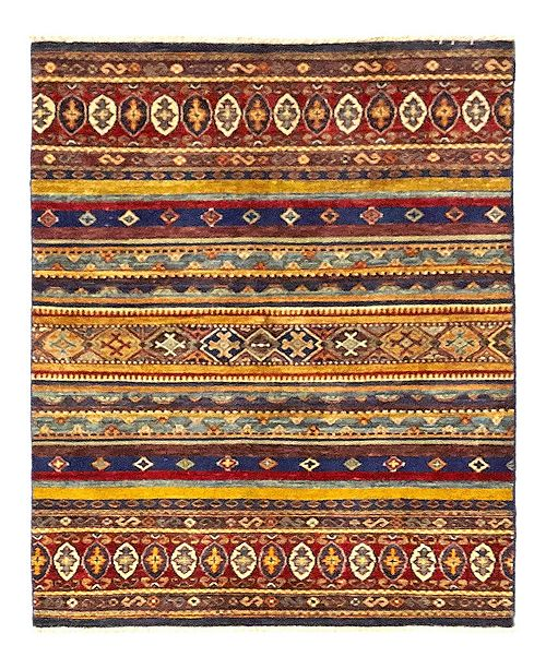 """Timeless Rug Designs CLOSEOUT! One of a Kind OOAK1144 Caramel 3'6"""" x 5'3"""" Area Rug"""