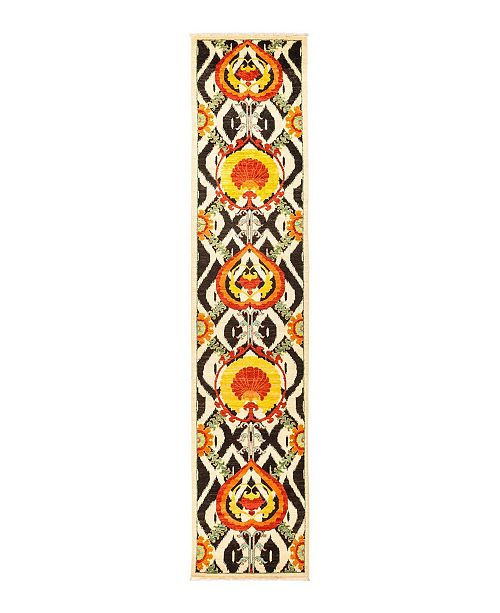 """Timeless Rug Designs CLOSEOUT! One of a Kind OOAK1352 Yellow 2'7"""" x 12'5"""" Runner Rug"""