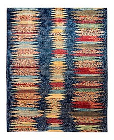 "Timeless Rug Designs One of a Kind OOAK2161 Navy 6'8"" x 9'9"" Area Rug"