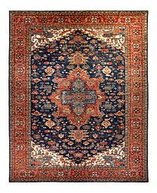 "Timeless Rug Designs One of a Kind OOAK2218 Navy 10'10"" x 17'7"" Area Rug"