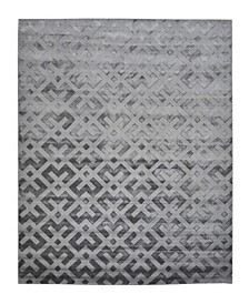 "Timeless Rug Designs One of a Kind OOAK2594 Gray 8' x 10'1"" Area Rug"