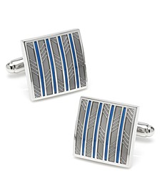 Ox Bull & Trading Co Striped Square Cufflinks