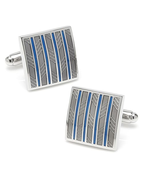 Ox & Bull Trading Co. Ox Bull & Trading Co Striped Square Cufflinks