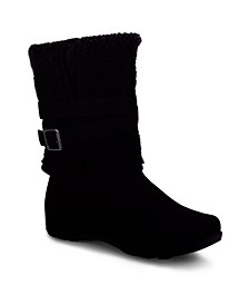Squall Mid Calf Boot with Fold Down Cuff
