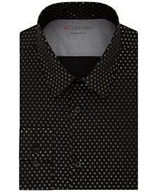 Men's Extreme Slim-Fit Line-Print Dress Shirt