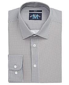 of London Men's Slim-Fit Performance Stretch Gingham Dress Shirt