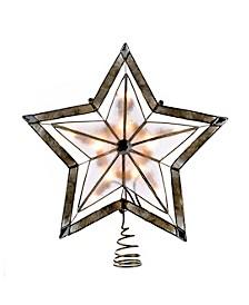 10-Inch 5-Point Large Star with Smoke Capiz Treetop