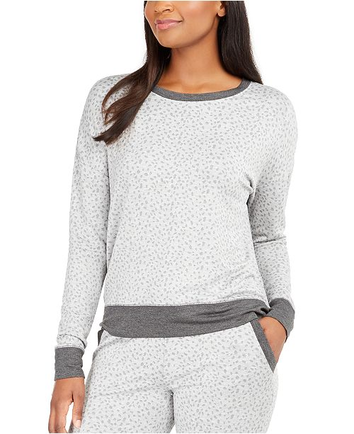 Alfani Women's Animal-Print Pajama Top, Created for Macy's