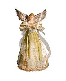 UL 10-Light 16-Inch Platinum Angel Treetop