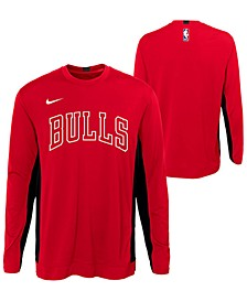 Big Boys Chicago Bulls Long Sleeve Shooter T-Shirt