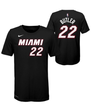 Nike Big Boys Jimmy Butler Miami Heat Icon Name and Number T-Shirt