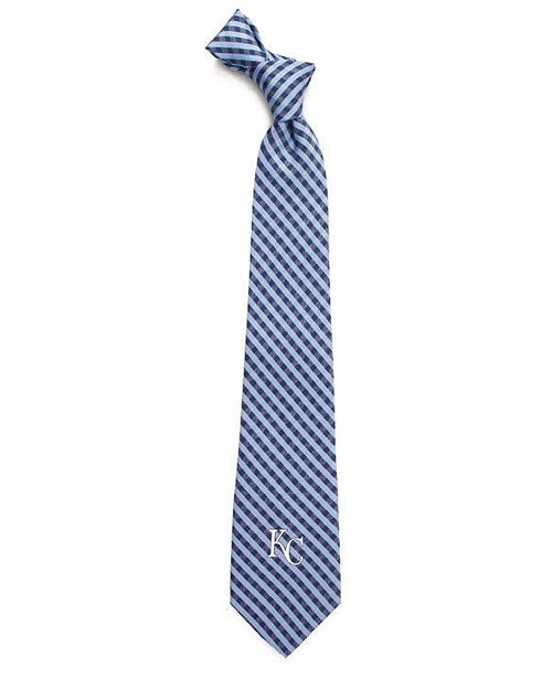 Eagles Wings Kansas City Royals Poly Gingham Tie