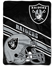 Oakland Raiders Raschel Throw Slant Blanket