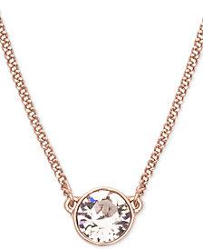 """Givenchy, Swarovski Pendant Necklace, 16"""" + 2"""" Extender"""