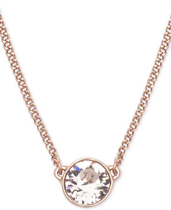 """Givenchy Swarovski Pendant Necklace, 16"""" + 2"""" Extender"""