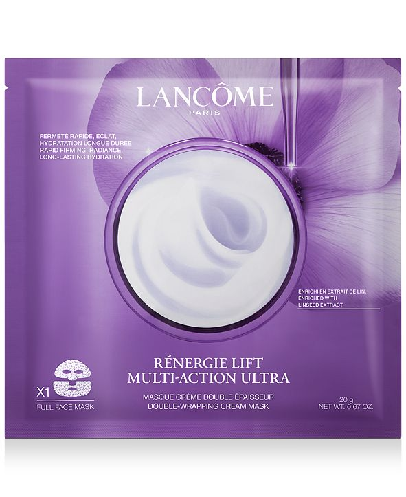 Lancome Rènergie Lift Multi-Action Ultra Double-Wrapping Cream Face Mask, 1-Pk.