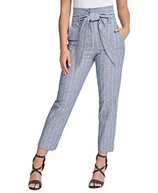 Striped High-Waist Pants