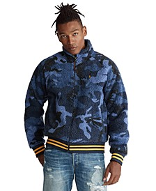 Men's Vintage Sherpa Camo Knit Sweatshirt