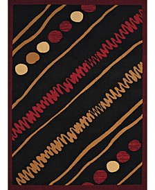"Cafe Crumpets 950 10930 28 Red 1'11"" x 7'2"" Runner Rug"