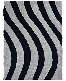 "Finesse Streamer 2100 21672 24 Gray 1'10"" x 3' Area Rug"