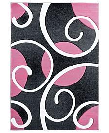 """Bristol Riley 2050 10386 912 Pink 7'10"""" x 10'6"""" Area Rug"""