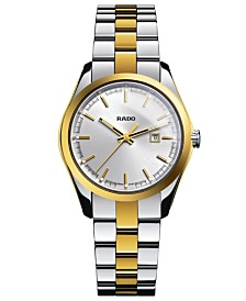 Rado Watch, Women's Swiss Hyperchrome Gold-Tone Ceramos® and Stainless Steel Bracelet 32mm R32975102