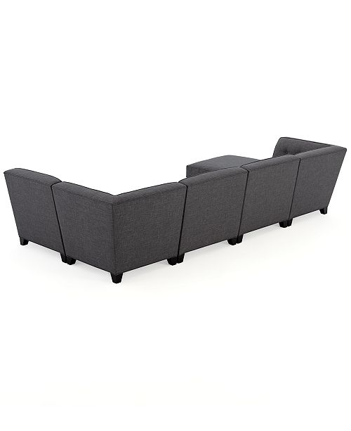 Furniture Closeout Harper Fabric 6 Piece Modular Sectional Sofa