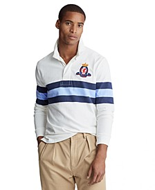 Men's Classic Fit Striped Rugby Shirt